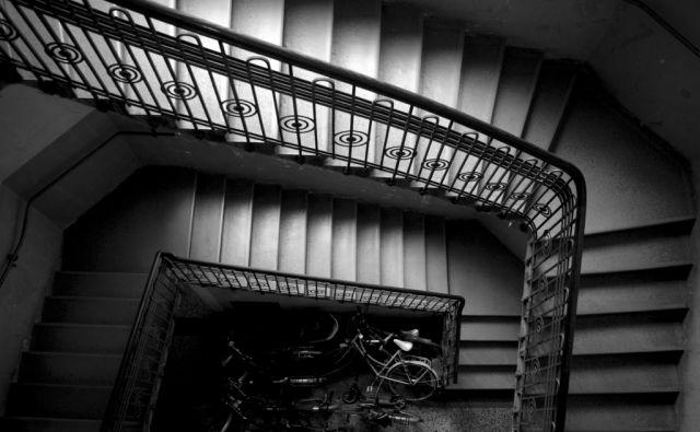 Stopnišče v stari meščanski hiši,Ljubljana Slovenija 24.02.2017 [Stopnice,stopnišče]