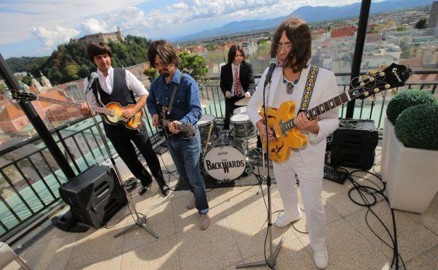 Tribute Beatles band The Backwards na ljubljanskem Nebotičniku 4.9.2017 Ljubljana Slovenija [Beatles,Bacwards,Ljubljana,Slovenija]