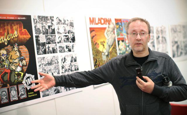 Dušan Kastelic, mojster animiranih filmov, ilustrator stripar in pedagog. Zagorje, Slovenija 31.marca 2016 [ Kastelic Dušan,animirani filmi,animatorji,ilustratorji,umetniki,kultura]