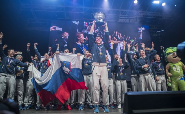 KOŠARKA - Sprejem za Evropske prvake