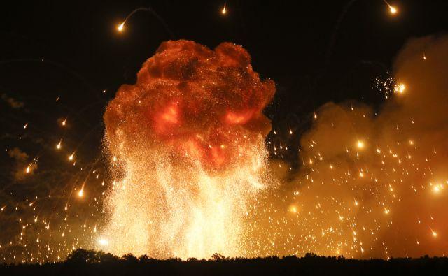 Ukraine Ammunition Blast