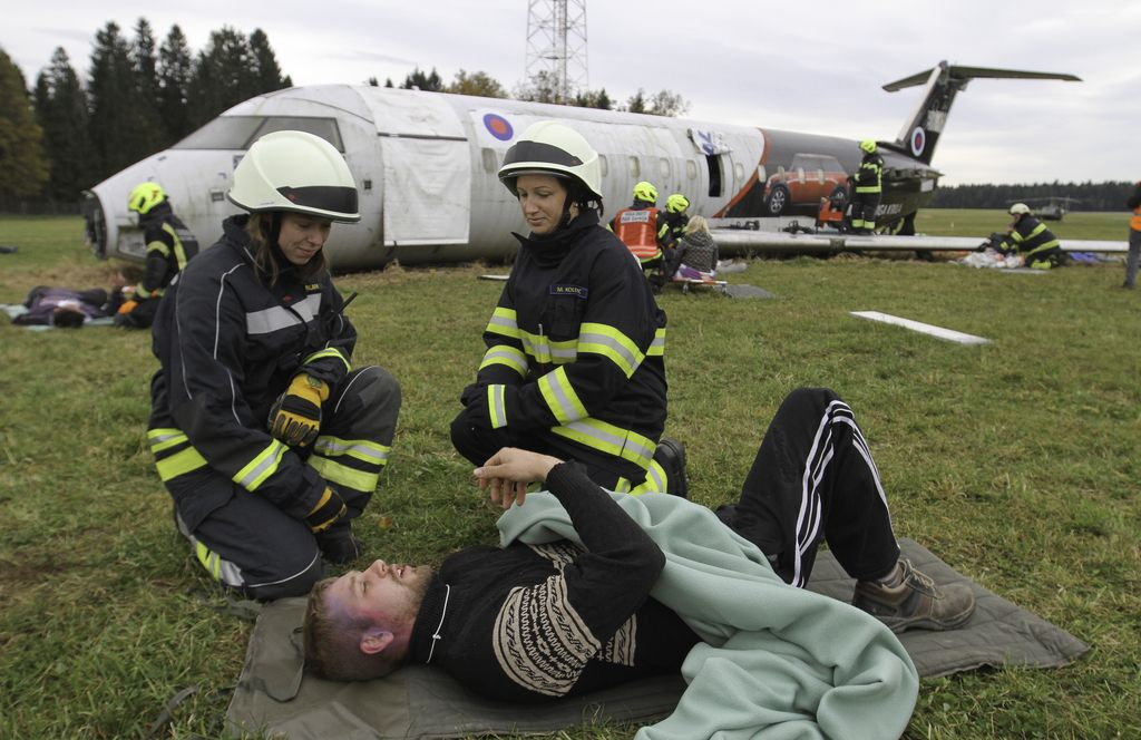 Letalska nesreča ... le za vajo