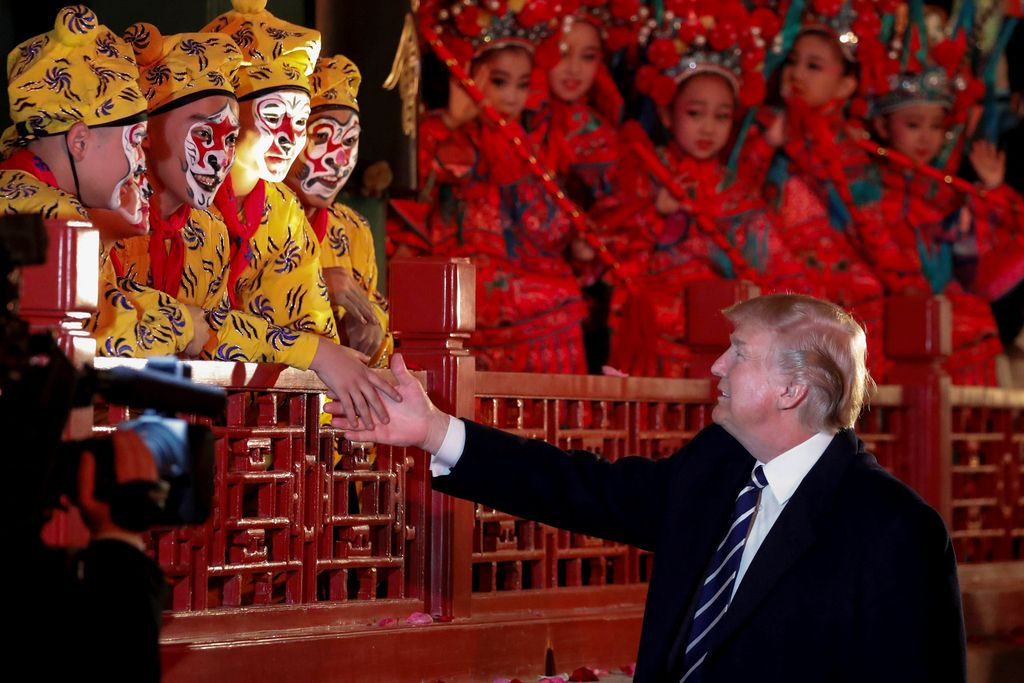 Trump za kitajskim zidom