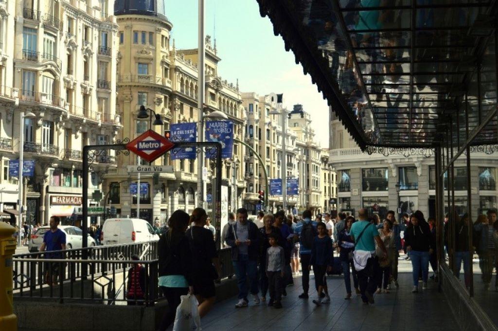 Na sprehodu po aveniji Gran Vía