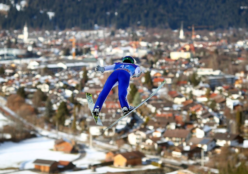 Na tekmi v Garmischu vseh sedem Slovencev