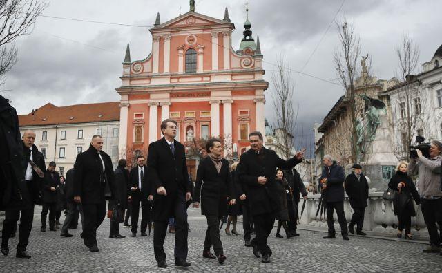 Srbska predsednica vlade Ana Brnabić in slovenski premier Miro Cerar. Ljubljana, 1. februar 2018 [Ana Brnabić,Miro Cerar,Ljubljana]