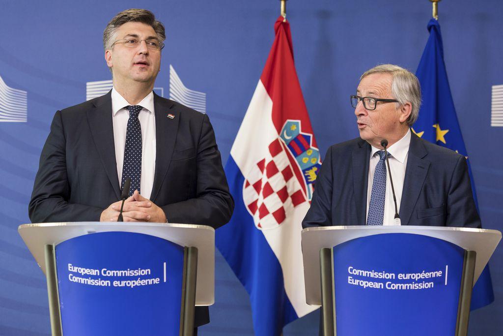 Plenković v Bruslju zavrnil možnost uveljavitve arbitražnega sporazuma