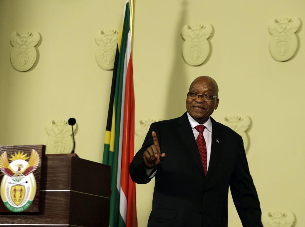Južnoafriški predsednik Jacob Zuma odstopil s položaja