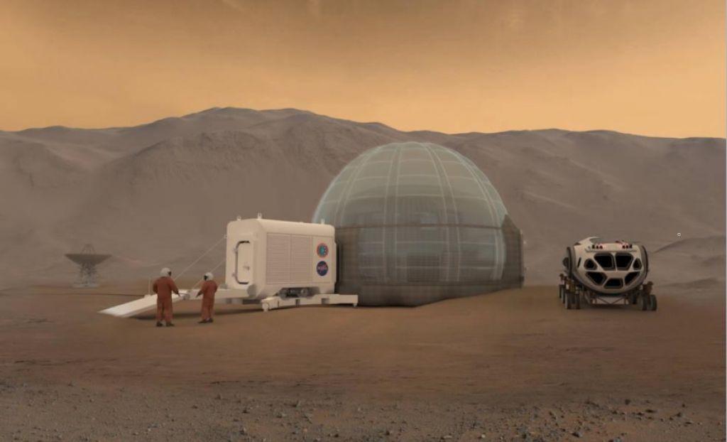 Slovenske kupole za osvajalce Marsa
