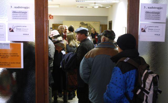 Ljubljana 21.01.2011 - Gneca na geodetski upravi na Cankarjevi ulici.foto:Blaž Samec/DELO