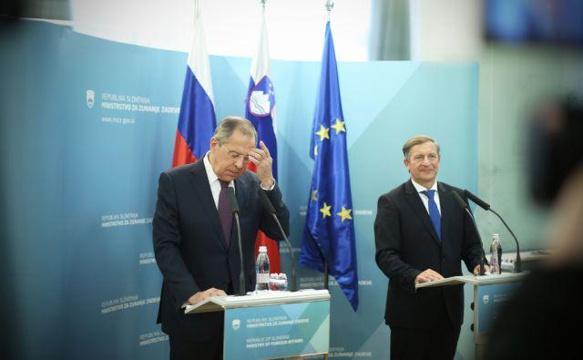 Obisk Sergeja Lavrova v Ljubljani