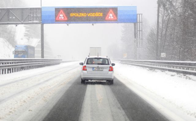 Sneg na štajerski avtocesti