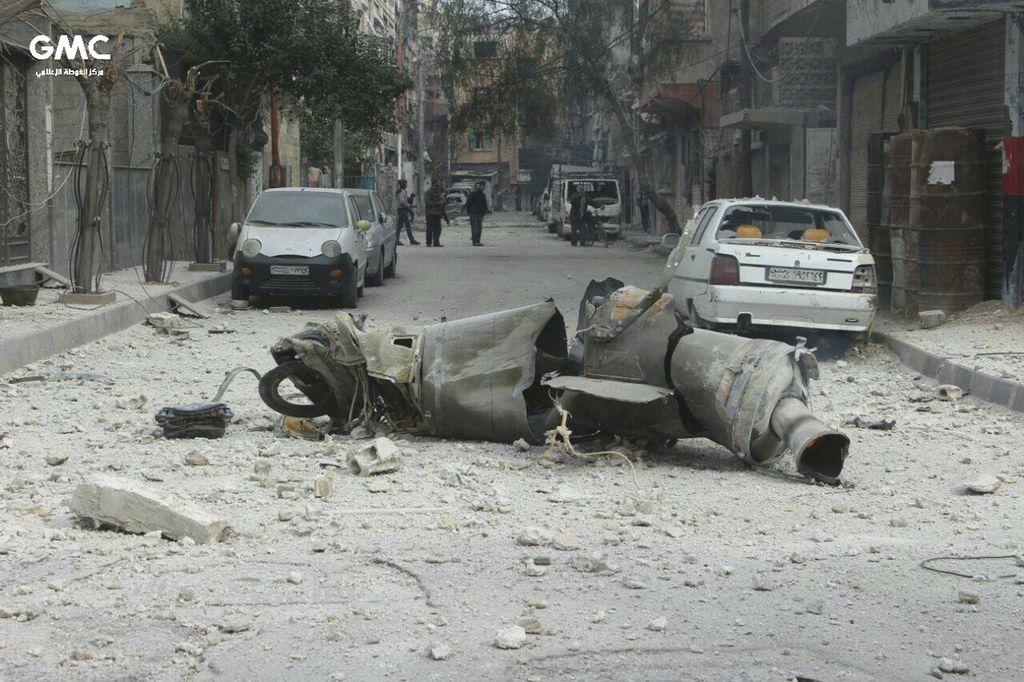 Sirski režim nadaljuje z obstreljevanjem Vzhodne Gute