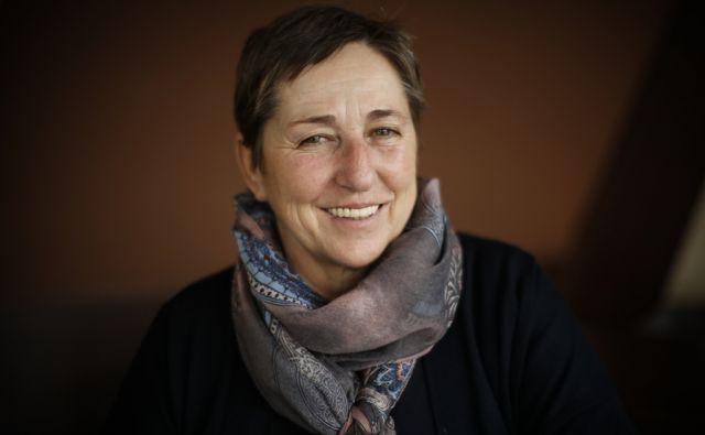 Marija Marinček, ekološka kmetovalka, v Ljubljani, 27. februarja 2018. [Marinček Marija,ekologija,ekološke kmetije,kmetje,kmetije,kmetijstvo]