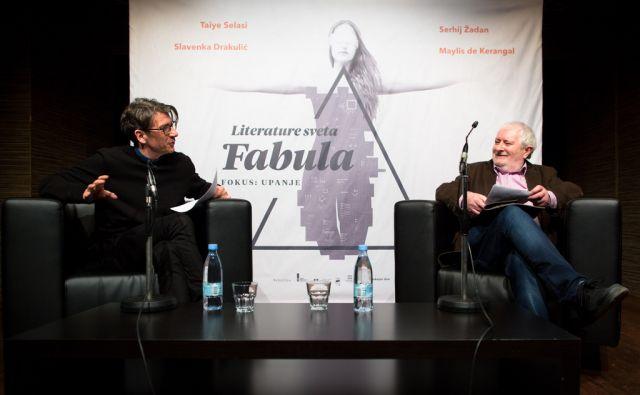 28.02.2018 Ljubljana, Cankarjev dom. Terry Eagleton je predaval na prvi dan Fabule pred Fabulo, nato je sledil pogovor, ki ga je moderiral Grega Repovž.