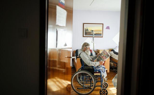 Alfonz Vervega v Družinskem domu za starejše in obnemogle Šimić, v Samoboru (Hrvaška), 9. marca 2018.[Vervega Alfonz,dom za ostarele,ostareli,starost,staranje]