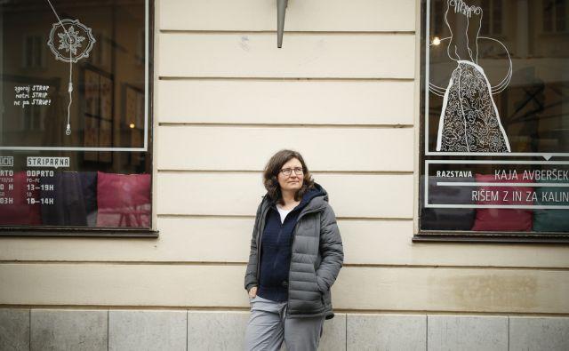 Dr. Barbara Rajgelj, aktivistka in profesaorica na Fakulteti za družbene vede Univerze v Ljubljani, v Ljubljani, 8. marca 2018. [Rajgelj Barbara,univerze,aktivisti,študiji]