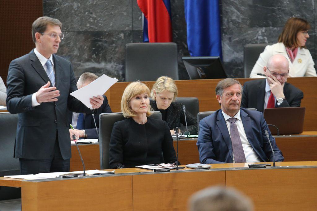 Cerarjevo zadnje dejanje v parlamentu