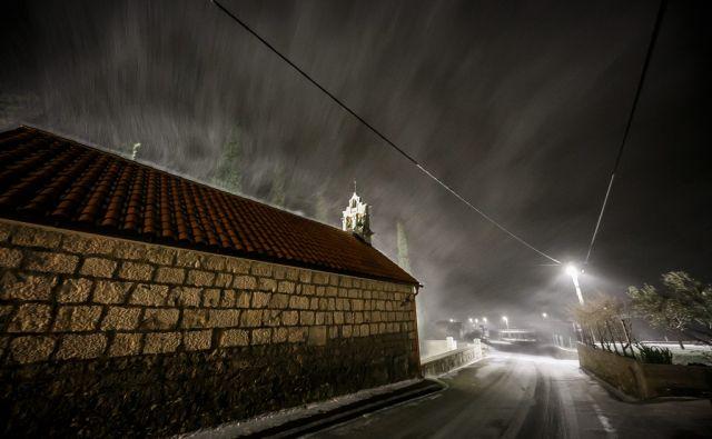 Snijeg u Dalmaciji 230318 Dubrava, 23.03.2018 -  Snijeg zabijelio Split i okolicu