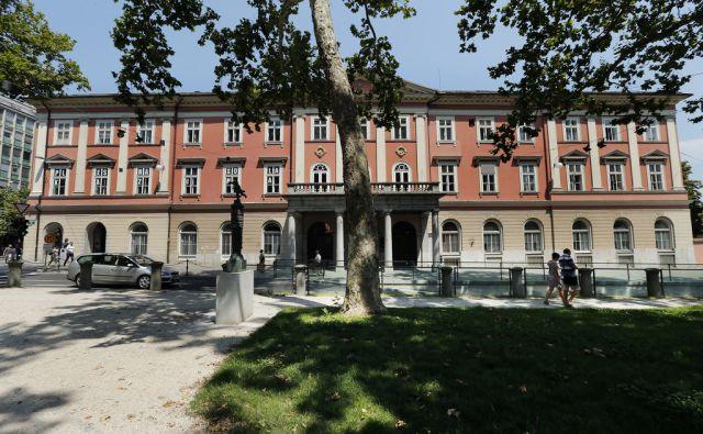 Zgradba plesne šole Kazina. Ljubljana 18. julij 2014.