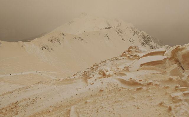 Russia Orange Snow