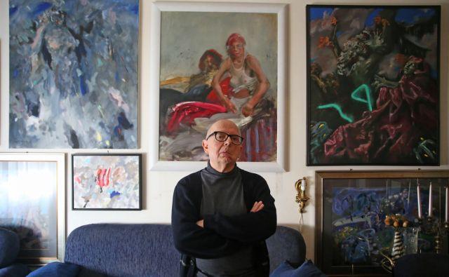 Ludvik Pandur, slikar, 22.3.2018, Maribor [ludvik pandur, slikarstvo, umetnost]