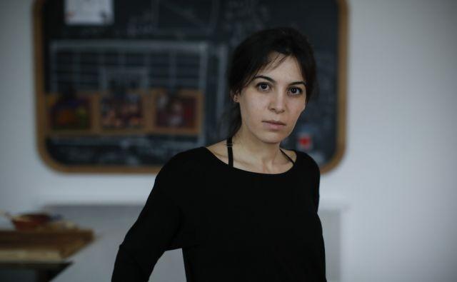 Widad Tamimi, pisateljica palestinsko judovskega porekla, v Ljubljani, 5. aprila 2018. [Tamimi Widad,pisatelji,literati,pisateljice,literatura,Palestina,Izrael,Judi,Palestinci]