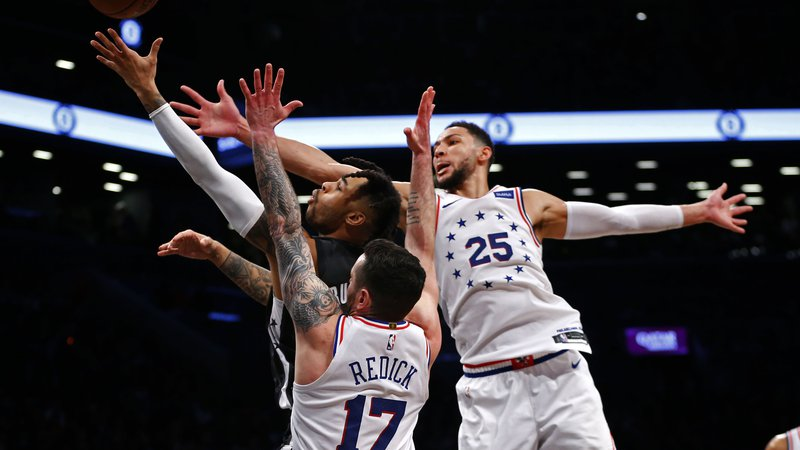 Fotografija: Philadelphia se je v Brooklynu veselila s 112:108. FOTO: Usa Today Sports