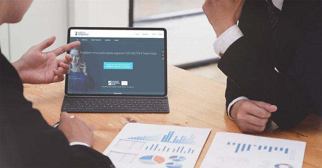 Finančna platforma Borze terjatev je dostopna na www.borzaterjatev.si. Foto Pexels
