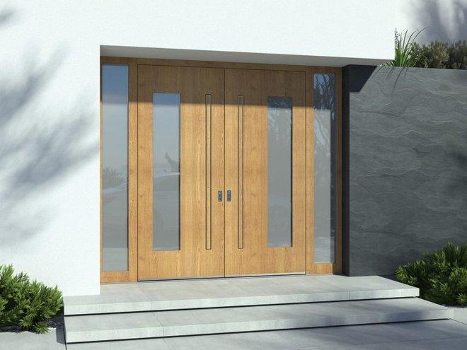 Lesena vhodna vrata Pirnar FOTO: Pirnar