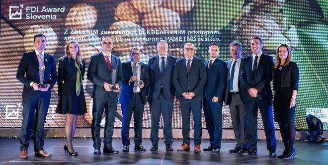 Najboljši tuji investitorji, prejemniki FDI Award Slovenija 2019. Foto: Mediaspeed/Vid Rotar.